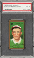 Baseball Cards:Singles (Pre-1930), 1911 T205 Gold Border Edward Abbaticchio PSA NM 7 - Pop Four, Only One Higher. ...
