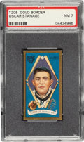 Baseball Cards:Singles (Pre-1930), 1911 T205 Gold Border Oscar Stanage PSA NM 7 - Pop One, Only One Higher. ...