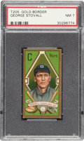 Baseball Cards:Singles (Pre-1930), 1911 T205 Gold Border George Stovall PSA NM 7 - Pop Five, Only One Higher. ...