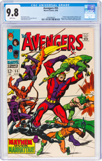 The Avengers #55 (Marvel, 1968) CGC NM/MT 9.8 White pages