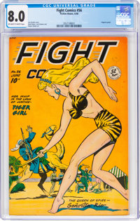 Fight Comics #56 (Fiction House, 1948) CGC VF 8.0 Off-white to white pages