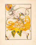 """Works on Paper, Léon Bakst (Russian, 1866-1924) for Ballet Russes. Costume Design for """"The Firebird"""", circa 1913. Graphite and gouache o..."""