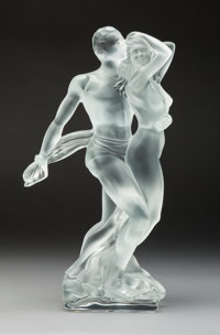 Lalique Paradoxe Frosted Glass Sculpture for Original Fitted Box, circa 2002 Mark