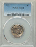 1927 5C MS64 PCGS. PCGS Population: (784/1158). NGC Census: (418/440). CDN: $75 Whsle. Bid for problem-free NGC/PCGS MS6...