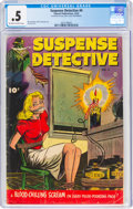 Golden Age (1938-1955):Crime, Suspense Detective #4 (Fawcett Publications, 1952) CGC PR 0.5 Off-white to white pages....