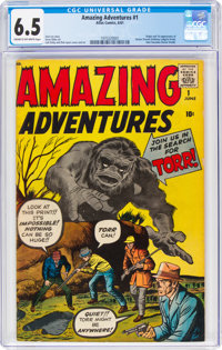 Amazing Adventures #1 (Atlas, 1961) CGC FN+ 6.5 Cream to off-white pages