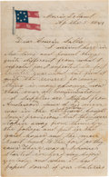 Autographs:Military Figures, [Fort Sumter]: Joseph Reaves, 1st South Carolina Infantry, Autograph Letter Signed Concerning Last Days of Fort Sumter before ...