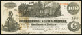 Confederate Notes:1862 Issues, T39 $100 1862 PF-5 Cr. 290 Very Fine.. ...