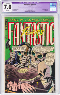 Fantastic Fears #5 (Farrell, 1954) CGC Apparent FN/VF 7.0 Slight (C-1)White pages