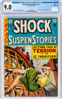 Shock SuspenStories #13 (EC, 1954) CGC VF/NM 9.0 Off-white to white pages