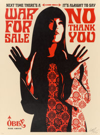Shepard Fairey (b. 1970) War for Sale (Red and White) (two works), 2007 Screenprint in colors on spe