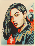 Fine Art - Work on Paper:Print, Shepard Fairey ( b. 1970). Power & Equality: Dove, 2018. Screenprint in colors on speckled cream paper. 24 x 18 inches (...