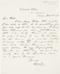Political:Small Paper (pre-1896), [Andrew Johnson]: Drunk at the 1865 Inauguration.. ...