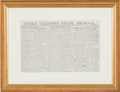 """Political:Small Paper (pre-1896), Abraham Lincoln: Springfield Newspaper with Display """"Card"""" for Lincoln & Herndon Law Office.. ..."""
