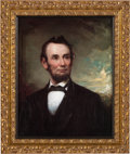 Antiques:Decorative Americana, Abraham Lincoln: George Henry Story Portrait on Canvas....