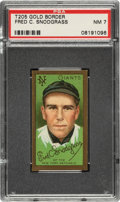 Baseball Cards:Singles (Pre-1930), 1911 T205 Gold Border Fred Snodgrass PSA NM 7 - Only One Higher. ...