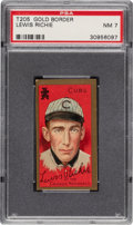 Baseball Cards:Singles (Pre-1930), 1911 T205 Gold Border Lewis Richie PSA NM 7 - Only One Higher. ...