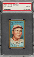 Baseball Cards:Singles (Pre-1930), 1911 T205 Gold Border Edward Phelps PSA NM 7 - None Higher. ...