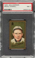 Baseball Cards:Singles (Pre-1930), 1911 T205 Gold Border Orval Overall PSA NM 7 - Pop Three, None Higher. ...