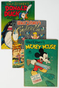 Golden Age (1938-1955):Cartoon Character, Four Color #27, 272, and 291 Group (Dell, 1943-50) Condition: Average GD/VG.... (Total: 3 )