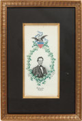 Political:Ribbons & Badges, Abraham Lincoln: 1861-Dated Woven Silk Inaugural Ribbon. . ...