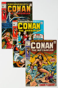 Conan the Barbarian Group of 10 (Marvel, 1970-72) Condition: Average VG/FN.... (Total: 10 Comic Books)