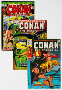 Conan the Barbarian Group of 9 (Marvel, 1971-73) Condition: Average FN/VF.... (Total: 9 Comic Books)