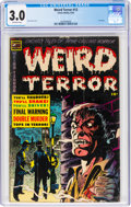Golden Age (1938-1955):Horror, Weird Terror #13 (Comic Media, 1954) CGC GD/VG 3.0 Off-white pages....