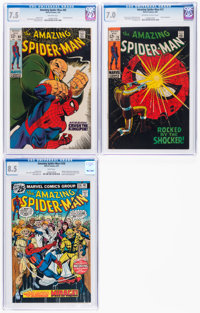 The Amazing Spider-Man #69,72, and 156 CGC-Graded Group (Marvel, 1969-76).... (Total: 3 Comic Books)