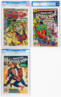 The Amazing Spider-Man #157, 158, and 250 CGC-Graded Group (Marvel, 1976-84).... (Total: 3 Comic Books)