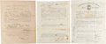 Autographs:Military Figures, [Confederate Enlistments]: Scarce Confederate Enlistment Forms From Ireland, France, and Switzerland. . ...