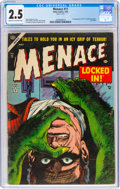 Golden Age (1938-1955):Horror, Menace #11 (Atlas, 1954) CGC GD+ 2.5 Cream to off-white pages....