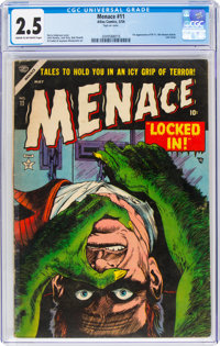 Menace #11 (Atlas, 1954) CGC GD+ 2.5 Cream to off-white pages