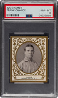 Baseball Cards:Singles (Pre-1930), 1909 T204 Ramly Frank Chance PSA NM-MT 8 - Pop Two, One Higher. ...