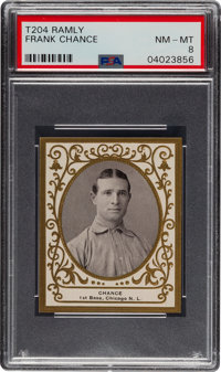 1909 T204 Ramly Frank Chance PSA NM-MT 8 - Pop Two, One Higher