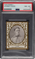 Baseball Cards:Singles (Pre-1930), 1909 T204 Ramly Johnny Evers PSA NM-MT 8 - Pop One, None Higher! ...