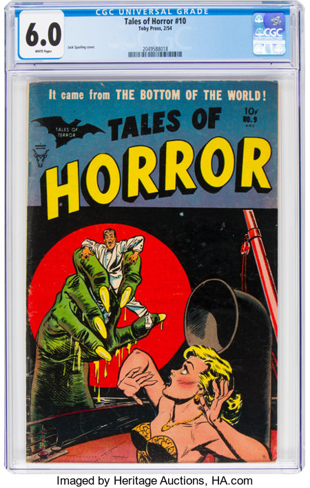 Tales of Horror #9 (Toby Publishing, 1954) CGC FN 6.0 White pages....