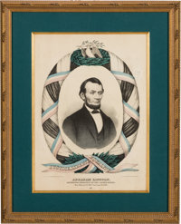 Abraham Lincoln: Colorful Mourning Print