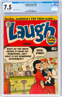 Laugh Comics #54 (Archie, 1952) CGC VF- 7.5 Off-white to white pages