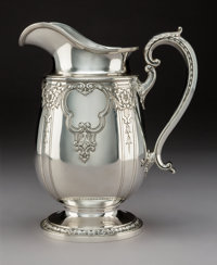 A Gorham Mfg. Co. Special Order Silver Pitcher Retailed by Grogan Company, Providence, Rhode Island, early 20th centu