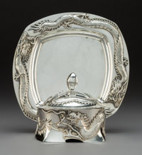 A Luen Wo Silver Covered Bowl and Stand, Shanghai, early 20th century Marks: LUENWO, LW, (character mar