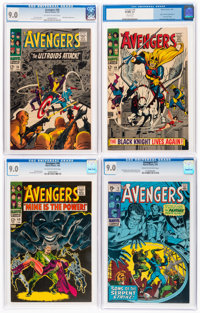 The Avengers CGC-Graded Group of 5 (Marvel, 1967-70) CGC VF/NM 9.0.... (Total: 5 Comic Books)