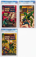 Silver Age (1956-1969):Superhero, Tales of Suspense #80, 84, and 87 CGC-Graded Group (Marvel, 1966-67).... (Total: 3 Comic Books)