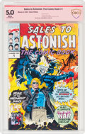 Modern Age (1980-Present):Superhero, Sales to Astonish: The Comic Book #1 Signature Series - John Romita and Stan Lee (Marvel, 1992) CBCS VG/FN 5.0 White pages....