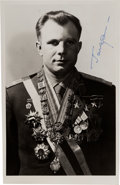 Explorers:Space Exploration, Yuri Gagarin Signed Photo Shown in Full Military Uniform. ...