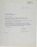 Explorers:Space Exploration, Neil Armstrong Typed Letter Signed to Dr. Shirley Thomas Mentioning the Twentieth Anniversary of Apollo 11....