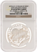 Explorers:Space Exploration, Apollo 13 Unflown PF64 Ultra Cameo NGC Silver Franklin Mint Medal, Serial Number 0054, Originally from the Personal Collection...