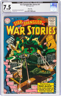 Star Spangled War Stories #31 River City Pedigree (DC, 1955) CGC VF- 7.5 Cream to off-white pages