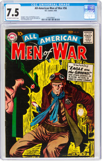 All-American Men of War #56 (DC, 1958) CGC VF- 7.5 Off-white to white pages
