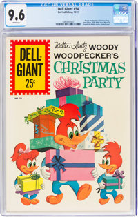 Dell Giant #54 Woody Woodpecker's Christmas Party (Dell, 1961) CGC NM+ 9.6 White pages